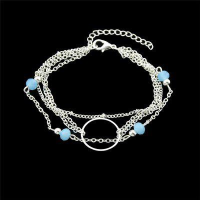 Circle Beads Layered Chain Bracelet