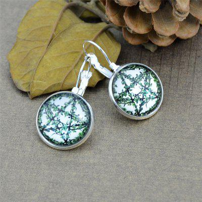 Five Pointed Star Leaf Round Shape Clip On Earrings