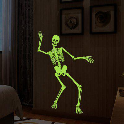 Human Skeleton Luminous Halloween Wall StickerWall Stickers<br>Human Skeleton Luminous Halloween Wall Sticker<br><br>Feature: Removable<br>Functions: Decorative Wall Stickers<br>Material: PVC<br>Package Contents: 1 x Wall Sticker<br>Theme: Shapes<br>Wall Sticker Type: Plane Wall Stickers<br>Weight: 0.3889kg