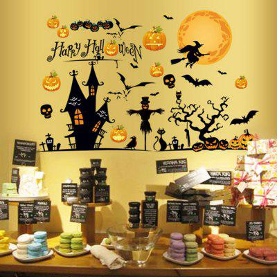 Halloween Party Decor Removable Wall StickerWall Stickers<br>Halloween Party Decor Removable Wall Sticker<br><br>Feature: Removable<br>Functions: Decorative Wall Stickers<br>Material: PVC<br>Package Contents: 1 x Wall Sticker<br>Theme: Cartoon,Fairytale Theme,Holiday<br>Wall Sticker Type: Plane Wall Stickers<br>Weight: 0.3889kg