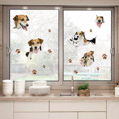 Puppy Dog Window Door Vinyl Wall Sticker