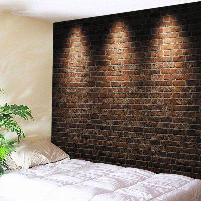 Buy BRICK-RED Wall Hanging Art Decor Light Brick Wall Print Tapestry for $22.30 in GearBest store