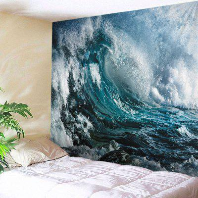 Buy Wall Hanging Art Ocean Wave Print Tapestry OCEAN BLUE Home & Garden > Home Textile > Tapestries for $20.01 in GearBest store