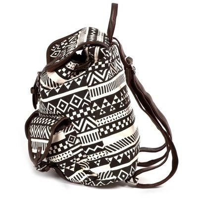 Buckles Ethnic Print Canvas BackpackBuckles Ethnic Print Canvas Backpack<br><br>Closure Type: String<br>Gender: For Women<br>Handbag Size: Medium(30-50cm)<br>Handbag Type: Backpack<br>Interior: Interior Zipper Pocket<br>Main Material: Canvas<br>Occasion: Versatile<br>Package Contents: 1 x Backpack<br>Pattern Type: Print<br>Size(CM)(L*W*H): 39*14*39<br>Style: Casual<br>Weight: 1.2000kg