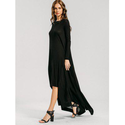 High Low Long Sleeve Maxi DressMaxi Dresses<br>High Low Long Sleeve Maxi Dress<br><br>Dresses Length: Ankle-Length<br>Material: Cotton, Polyester, Spandex<br>Neckline: Round Collar<br>Occasion: Formal, Semi Formal, Going Out<br>Package Contents: 1 x Dress<br>Pattern Type: Solid<br>Season: Fall, Spring<br>Sleeve Length: Long Sleeves<br>Weight: 0.6000kg<br>With Belt: No