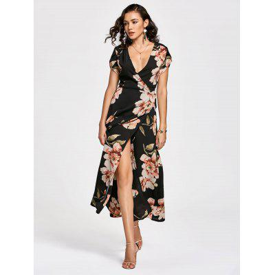 Floral Print Long Wrap DressMaxi Dresses<br>Floral Print Long Wrap Dress<br><br>Dresses Length: Ankle-Length<br>Material: Polyester<br>Neckline: V-Neck<br>Package Contents: 1 x Dress<br>Pattern Type: Floral<br>Season: Summer<br>Sleeve Length: Short Sleeves<br>Weight: 0.3650kg<br>With Belt: No