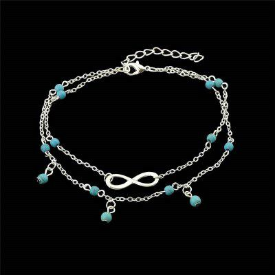 Faux Turquoise Infinite Beads Charm Tobiceira