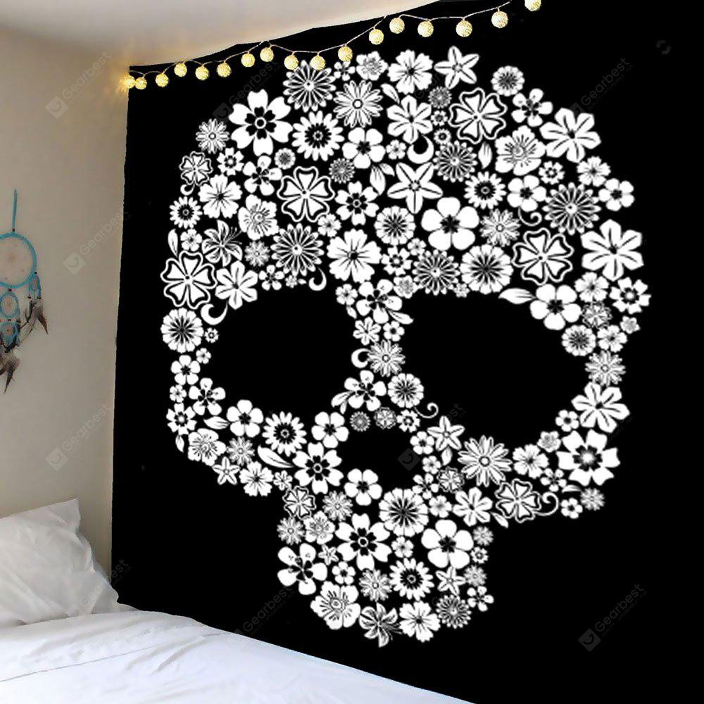 Skull Flower Wall Hanging Tapestry