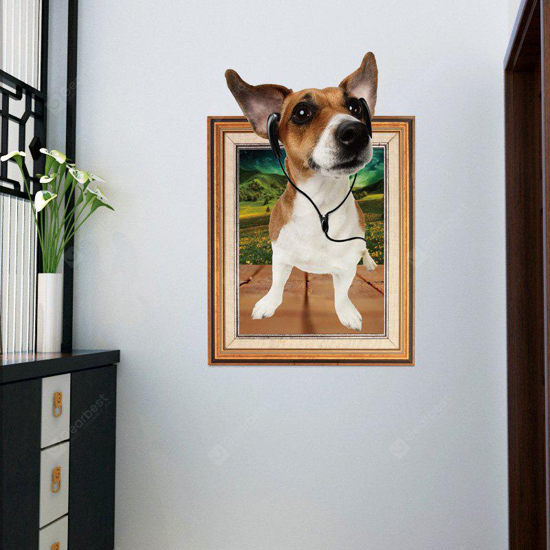 3D Dog Photo Frame Wall Sticker para o quarto dos miúdos