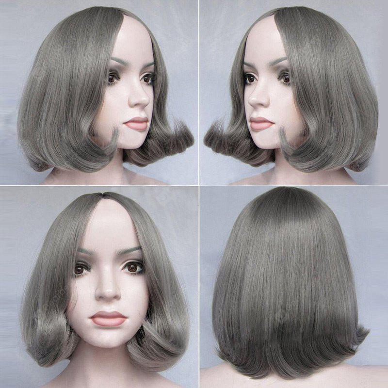 Short Middle Part Tail Adduction Straight Bob Synthetic Wig