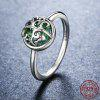 Tree of Life Heart Sterling Silver Ring - SILVER