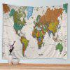 Wall Hanging Art Decor World Map Print Tapestry - COLORMIX
