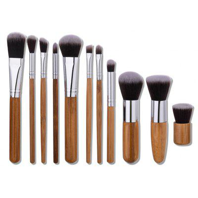 Buy WOOD 11Pcs Wooden Handle Makeup Brushes Set for $8.11 in GearBest store