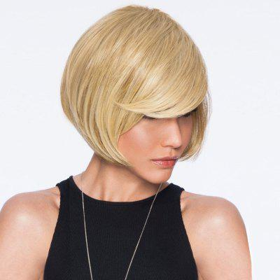 Side Bang Short Straight Bob peruca de cabelo humano