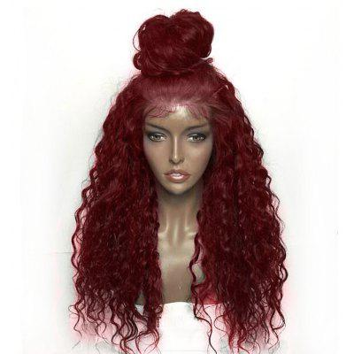 Fluffy Curly Long Lace peluca sintética frontal