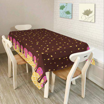 Chocolate Print Home Decor Waterproof Fabric Table Cloth
