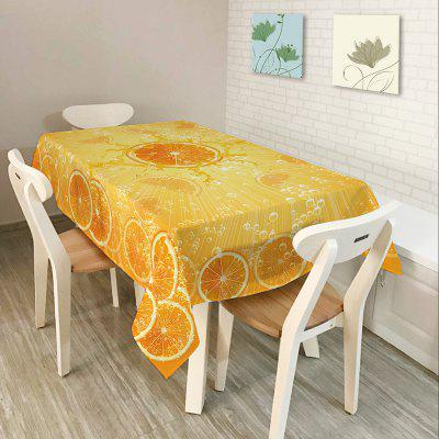 Orange Print Home Decor Fabric Waterproof Table Cloth