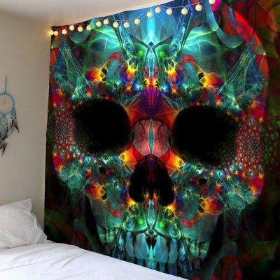 Buy COLORFUL Halloween Skull Wall Hanging Tapestry for $21.26 in GearBest store