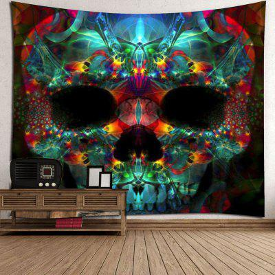 Halloween Skull Wall Hanging TapestryCushion<br>Halloween Skull Wall Hanging Tapestry<br><br>Feature: Removable, Washable<br>Material: Polyester<br>Package Contents: 1 x Tapestry<br>Shape/Pattern: Skull<br>Style: Gothic<br>Weight: 0.4200kg