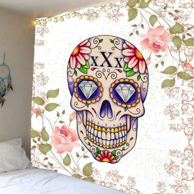 Floral Skull Rhinestone Wall Hanging Tapestry
