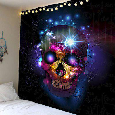Buy DEEP BLUE Skull Print Wall Hanging Tapestry for $22.12 in GearBest store