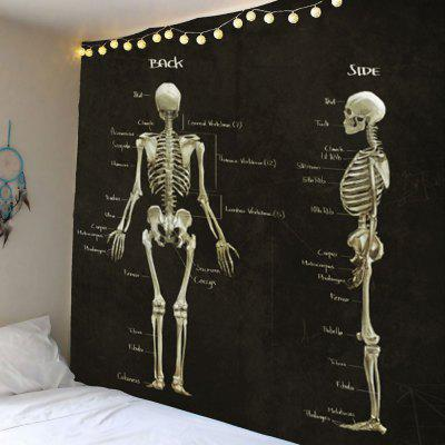 Skeleton Print Wall Hanging Tapestry