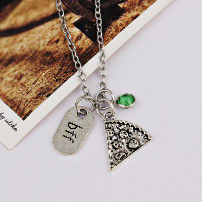 Buy GREEN Rhinestone Bff Collarbone Pendant Necklace for $2.38 in GearBest store