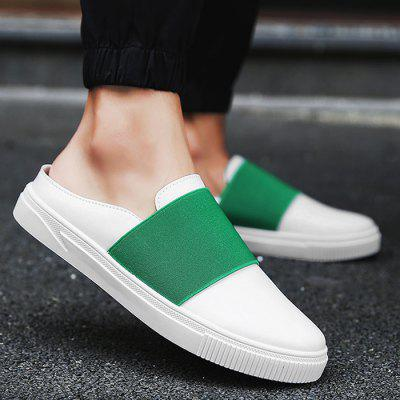 PU Leather Elastic Band Casual Shoes
