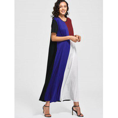 Color Block Shift Maxi DressMaxi Dresses<br>Color Block Shift Maxi Dress<br><br>Dresses Length: Ankle-Length<br>Material: Cotton, Polyester, Spandex<br>Neckline: Round Collar<br>Occasion: Casual , Going Out<br>Package Contents: 1 x Dress<br>Pattern Type: Patchwork<br>Season: Summer<br>Sleeve Length: Short Sleeves<br>Weight: 0.4700kg<br>With Belt: No