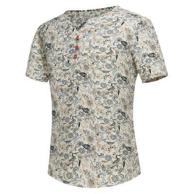 Notch Neck Tiny Floral Tee