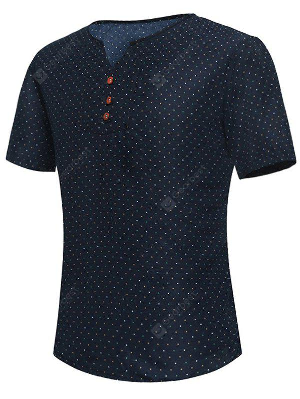 Notch Neck Polka Dot Tee