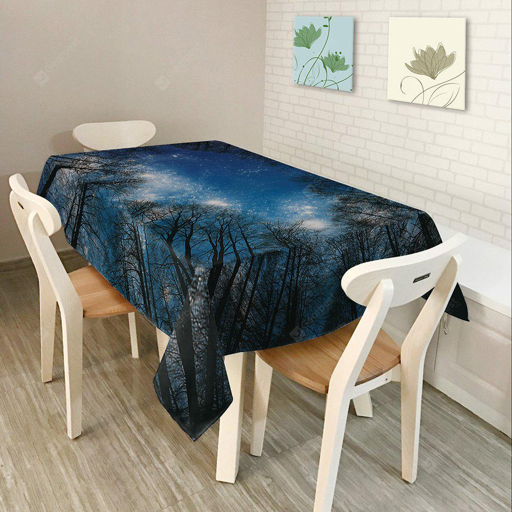 Starry Night Tree Print Fabric Table Cloth