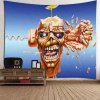 Skull Brains Fist Wall Hanging Tapestry - LIGHT BROWN