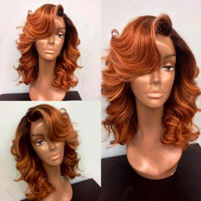Medium Deep Side Part Body Wave Lace Front Synthetic Wig