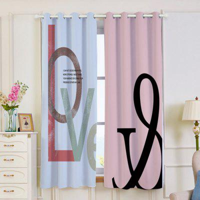 Love Print 2 Panels Blackout Window CurtainsWindow Treatments<br>Love Print 2 Panels Blackout Window Curtains<br><br>Applicable Window Type: Bay Window,Flat Window<br>Function: Blackout<br>Installation Type: Exterior Installation<br>Location: Living Room,Window<br>Material: Polyester / Cotton<br>Opening and Closing Method: Left and Right Biparting Open<br>Package Contents: 2 x Curtains (Panel)<br>Processing: Punching<br>Processing Accessories Cost: Excluded<br>Style: Modern<br>Type: Curtain<br>Use: Cafe, Home, Hotel, Office<br>Weight: 1.2000kg