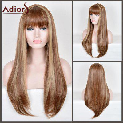 Buy COLORMIX Adiors Long Full Bang Highlight Straight Synthetic Wig for $28.07 in GearBest store