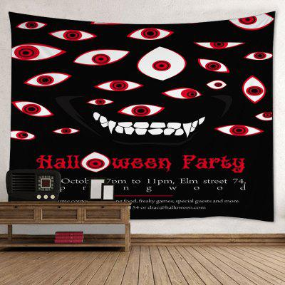 Buy RED Wall Hanging Art Decor Halloween Evil Eye Print Tapestry for $16.31 in GearBest store