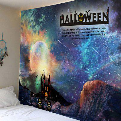 Buy COLORMIX Wall Hanging Art Decor Halloween Galaxy Print Tapestry for $16.31 in GearBest store
