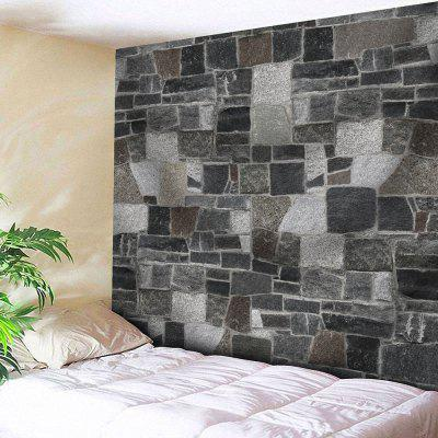 Buy GRAY Brick Wall Print Microfiber Wall Hanging Tapestry for $17.23 in GearBest store
