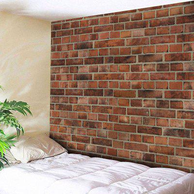 Buy BRICK-RED Microfiber Wall Hanging Brick Wall Print Tapestry for $18.28 in GearBest store