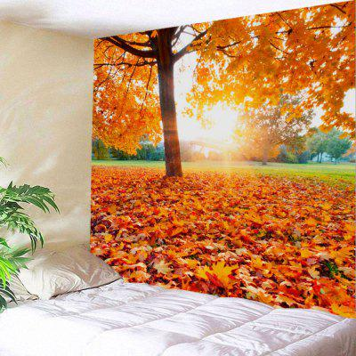 Maple Tree Leaf Sunlight Wall Tapestry