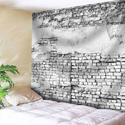 Buy GRAY Microfiber Wall Hanging Brick Wall Tapestry for $18.28 in GearBest store