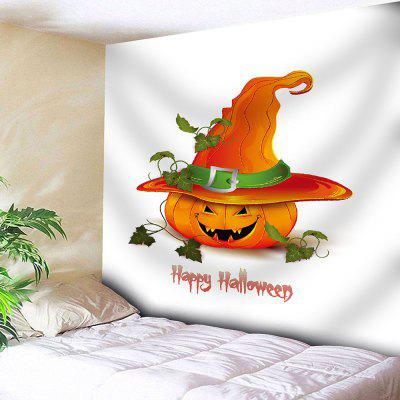 Halloween Pumpkin Waterproof Wall Hanging Tapestry
