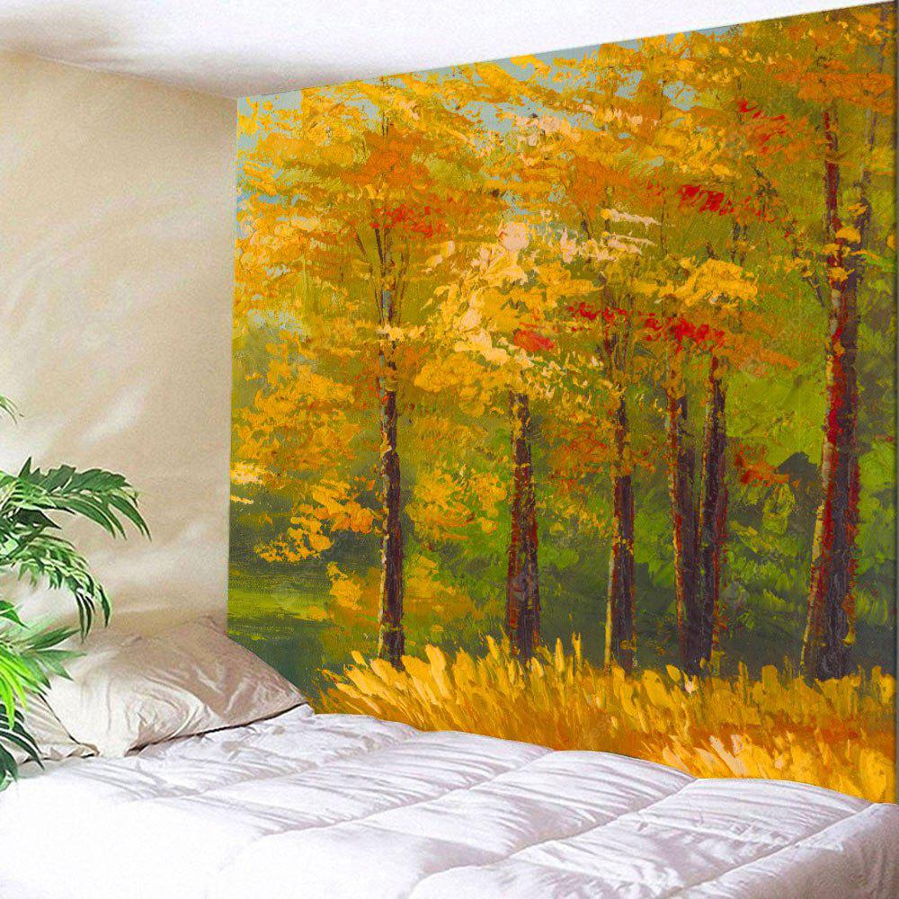 Maple Tree Oil Painting Wall Hanging Tapestry