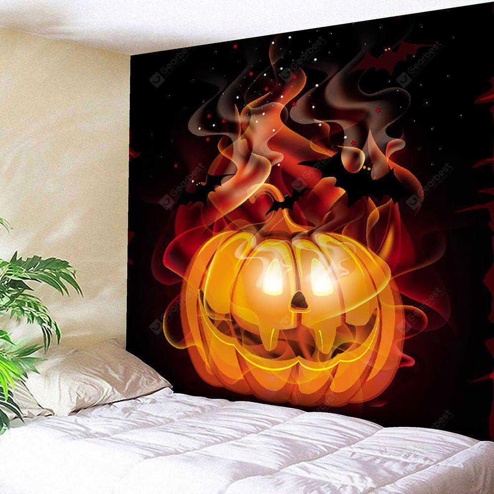 COLORFUL Halloween Pumpkin Star Waterproof Velvet Tapestry