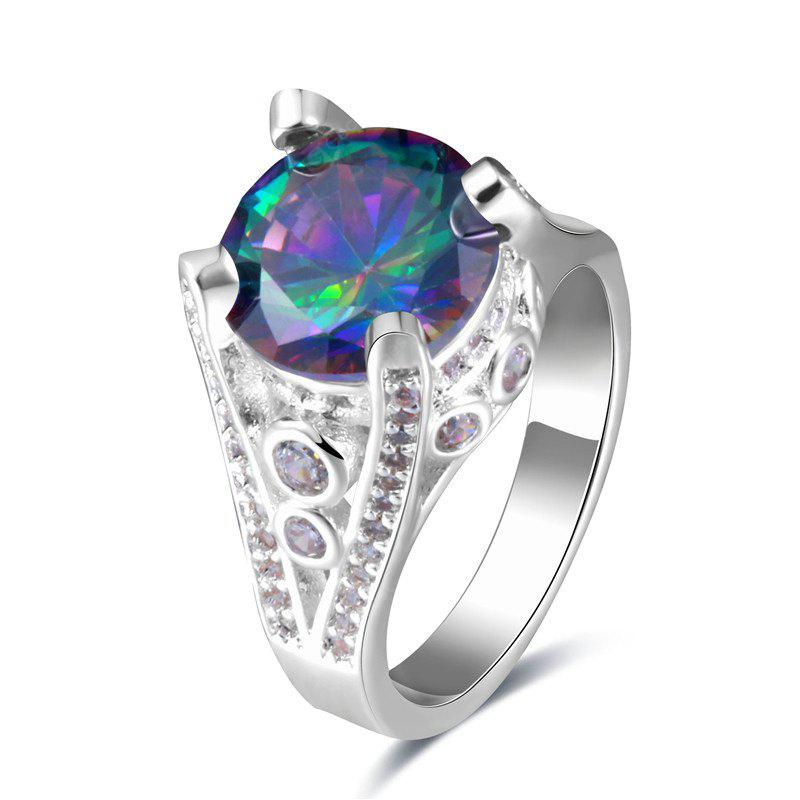 Faux Gem Round Ring