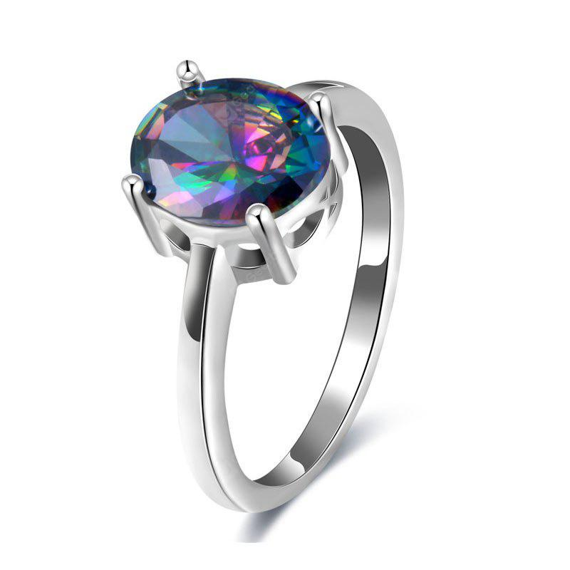 Faux Gem Oval Ring