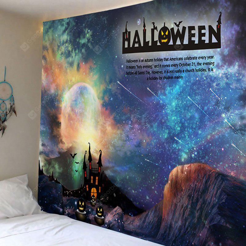 COLORMIX Wall Hanging Art Decor Halloween Galaxy Print Tapestry