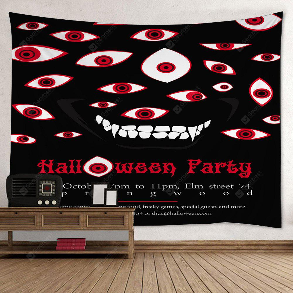 RED Wall Hanging Art Decor Halloween Evil Eye Print Tapestry