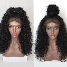 Long Free Part Shaggy Natural Wave Lace Front Human Hair Wig